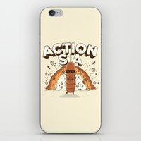 sia iPhone & iPod Skins featuring Action Sia by FreedDraws