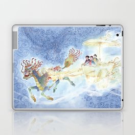 The Chinese Magic Creature (Chi Lin), The Light Charriot and the Three Children - Dragon Laptop & iPad Skin