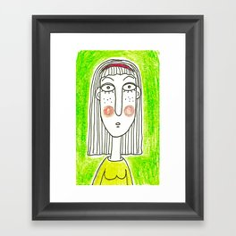 Green Girl Framed Art Print