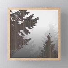 Norway Black Framed Mini Art Print