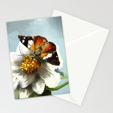 Butterfly on flower 12 Stationery Cards