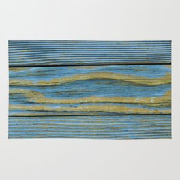 Wood Planks - Blue/Yellow Rug