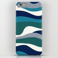 Cordillera Stripe: Teal Navy Combo iPhone 6 Plus Slim Case