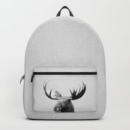 Moose - Black & White Backpack