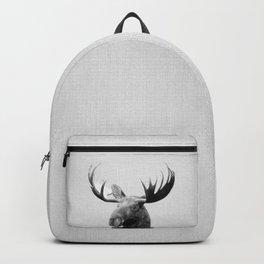 Moose - Black & White Backpack