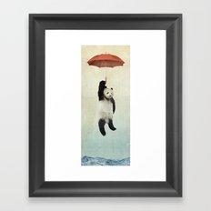 Pandachute Framed Art Print