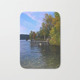 Autumn Arrives at the Lake Bath Mat