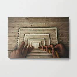 Hypnotic Workplace Metal Print