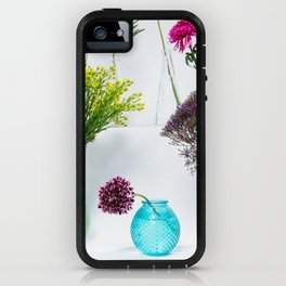 Flowers in vases still life iPhone Case