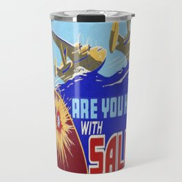 Vintage poster - Are You Helping with Salvage? Travel Mug