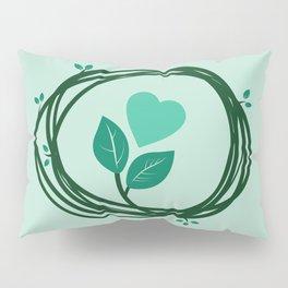 Cute heart in a nest Pillow Sham