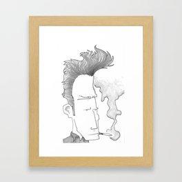 Big-haired Smoker #1 Framed Art Print