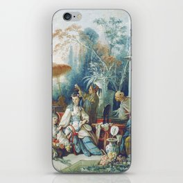 Le Jardin Chinois by François Boucher iPhone Skin