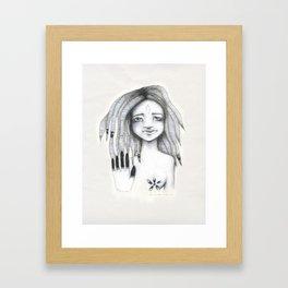 Soy el observador de mis propios pensamientos Framed Art Print