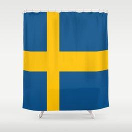 flag of sweden Shower Curtain