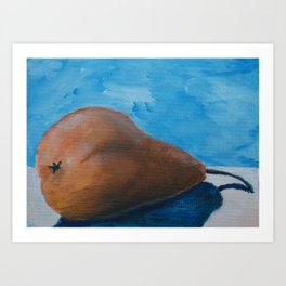 Pear Study 2 Art Print