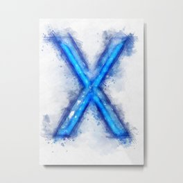 X Letter Metal Print