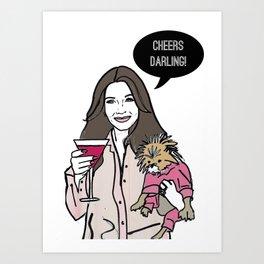 Cheers Darling Art Print