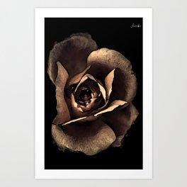 Rose noire qui s'ouvre colors fashion Jacob's Paris Art Print