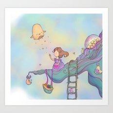 Up on the treetop Art Print