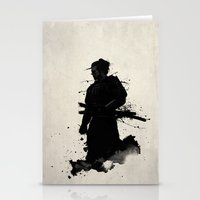 samurai Stationery Cards featuring Samurai by Nicklas Gustafsson