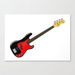 Fretless Bass Guitar Canvas Print