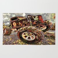truck Area & Throw Rugs featuring mud truck by Moonlight Creations