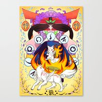 okami Canvas Prints featuring Okami by Willow