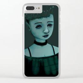 Night Girl II Clear iPhone Case