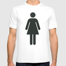 Woman White SMALL Mens Fitted Tee