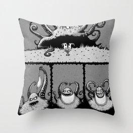 Octoshit Throw Pillow