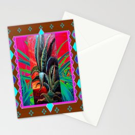 COLORFUL DESERT AGAVE CACTUS PAINTING Stationery Cards