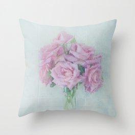Rose Bunch Throw Pillow