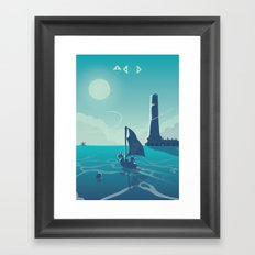 Zelda Wind Waker Framed Art Print