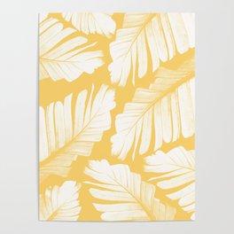 Yellow Banana Leaves Dream #1 #tropical #decor #art #society6 Poster