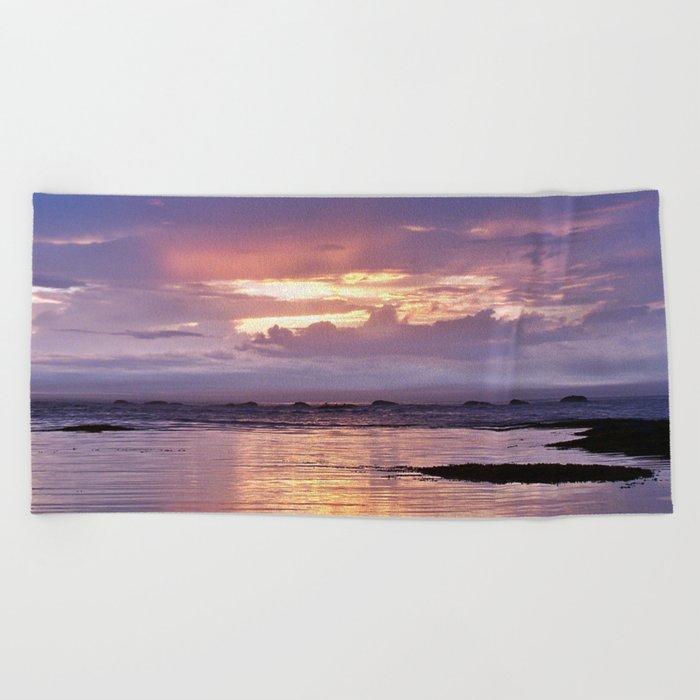 Misty Sunset Beach Towel