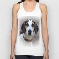 the hound Tank Tops featuring Hound 2 by Doug McRae
