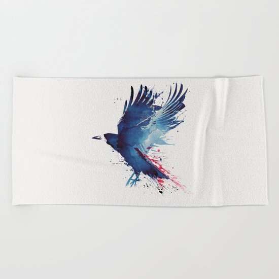 Bloody Crow Beach Towel