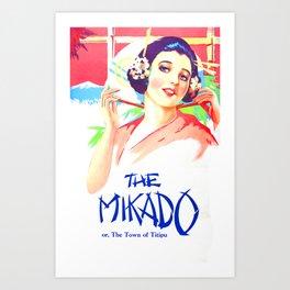 Vintage Art Deco pre 1920's Theatre Play Poster Style Mikado Art Print