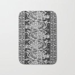Vintage Lace Black and White Bath Mat