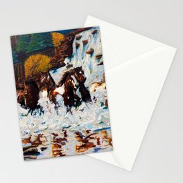 Horses running free Stationery Cards