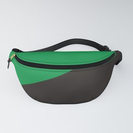 green anarchy flag ecology symbol Fanny Pack