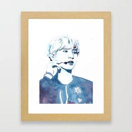 Park Chanyeol Watercolour Design Framed Art Print