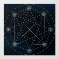 sacred geometry Canvas Prints featuring Geometry Sacred by BlueGardenia36
