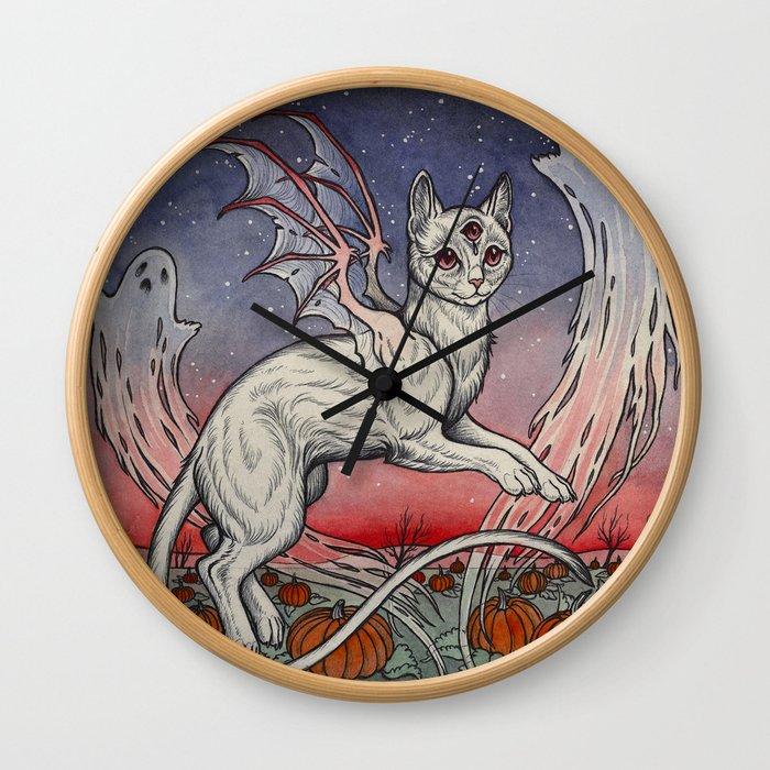 Spirits Of All Hallows Eve Wall Clock