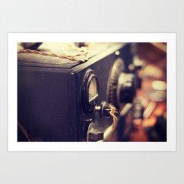 Vintage Radio Equipment Art Print
