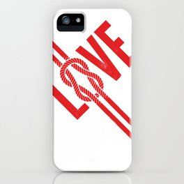 Love Knot (Red) iPhone Case
