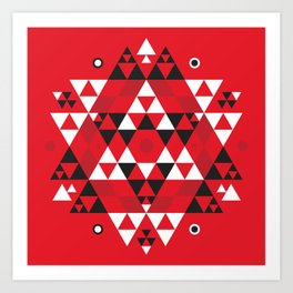 Radiant Red Art Print