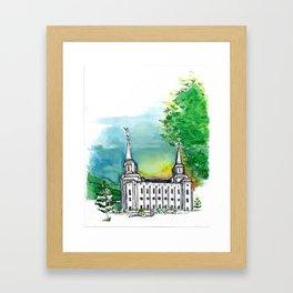 Brigham City Temple Framed Art Print