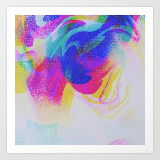 Glitch 28 Art Print